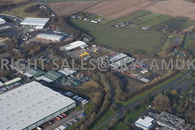 Skelmersdale high level aerial view of the Rodco Works Stanley Way Stanley industrial estate