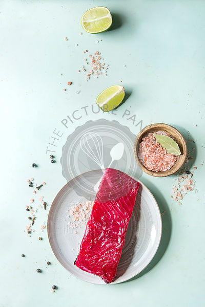Beetroot marinated salmon