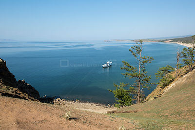 Bay close to Cape Burhan on Olkhon Island, Lake Baikal, Siberia, Russia.