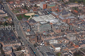 Chester aerial photograph looking across Watergate Street towards the forum Shopping Centre