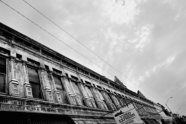 ROUTE 66 STAUNTON ILLINOIS BLACK AND WHITE