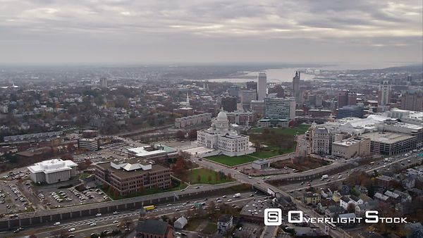 Wide View of Providence, Rhode Island. Shot in November