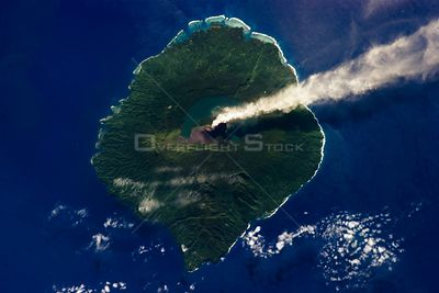 Just 20 kilometers (12 miles) in diameter, Gaua Island is actually the exposed upper cone and summit of a stratovolcano that ...