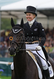 Jonelle Price and THE DEPUTY - dressage phase,  Land Rover Burghley Horse Trials, 4th September 2014.