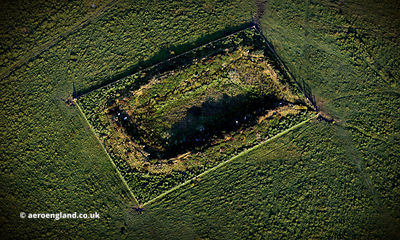 King Arthur's Hall on Bodmin Moor, aerial photograph