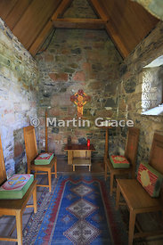 Saint Columba's Shrine (c 750AD), originally built to house the sacred relics of St Columba, Iona Abbey, Inner Hebrides, Scot...