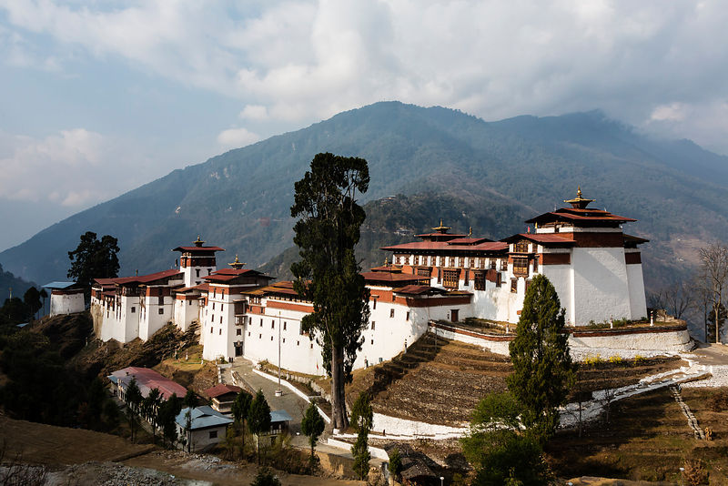 Elevated View of Trongsa Dzong