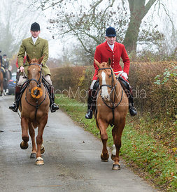 Andrew Osborne Leaving the meet. The visit of the Wynnstay Hounds to the Cottesmore 27/11