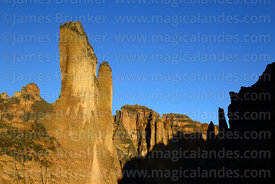 Rock formations in Palca Canyon, La Paz Department, Bolivia