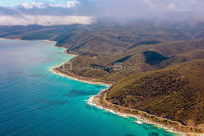Aerial view of Lorne in Victoria