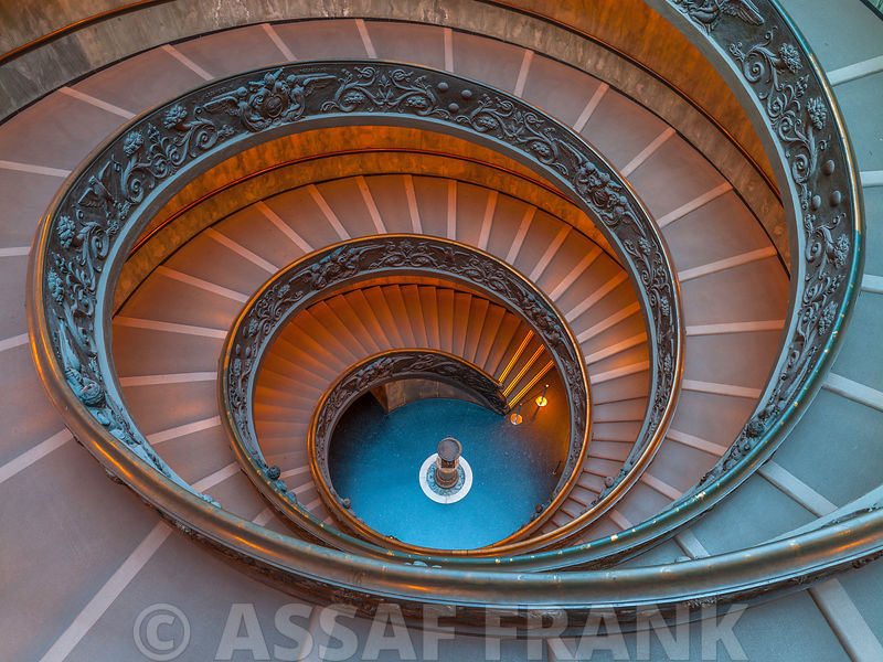 Spiral staircase at the Vatican museum, Rome, Italy