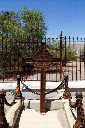 Tomb of James Stewart Mackay in the British Cemetery at Tiliviche, Region I, Chile