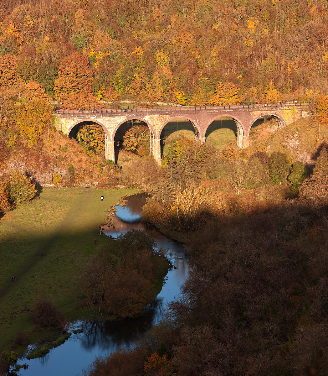 Headstone Viaduct and river Wye