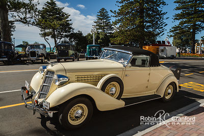 Art Deco Sunday 2014.  1935 Auburn 851 Cabriolet. License Plate AUBY8