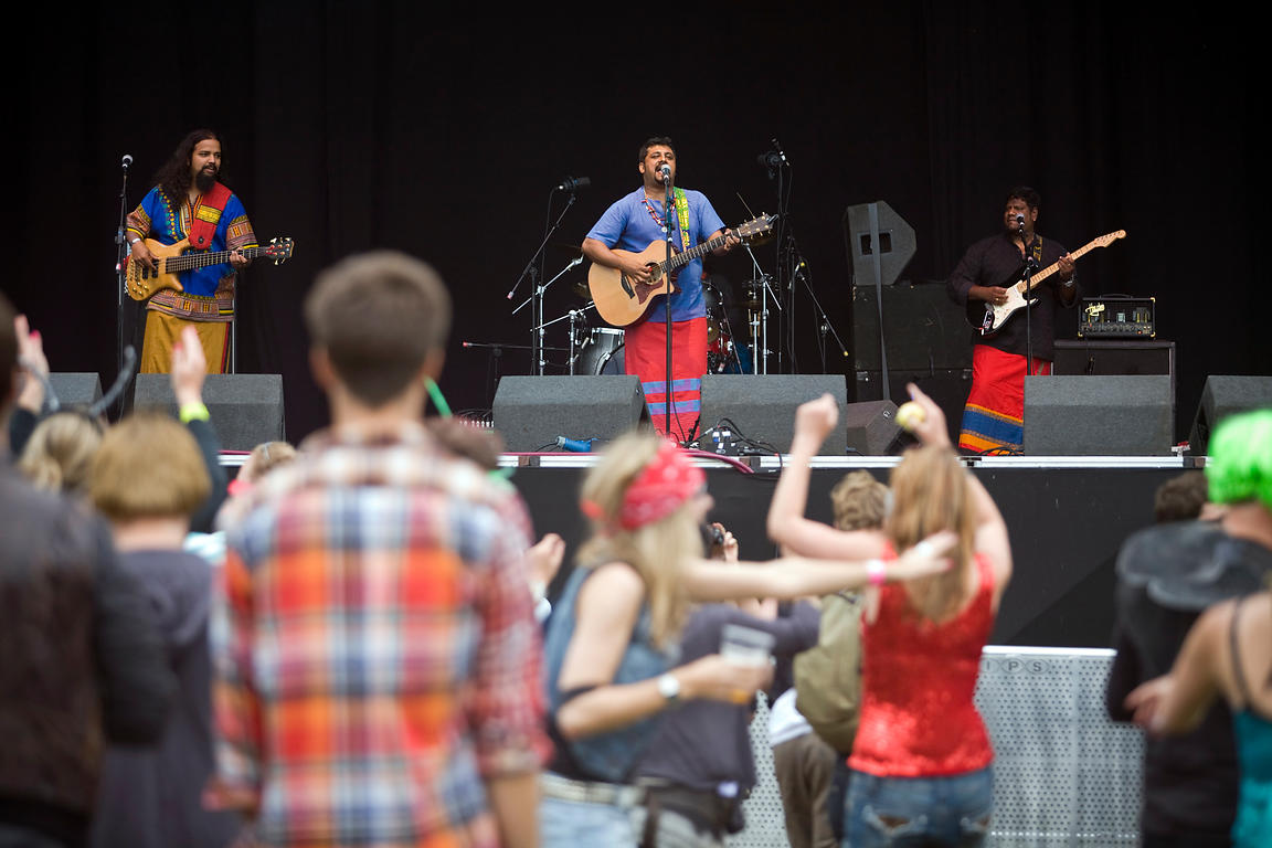 UK - Standon - The Raghu Dixit Project perform at the Standon Calling Festival