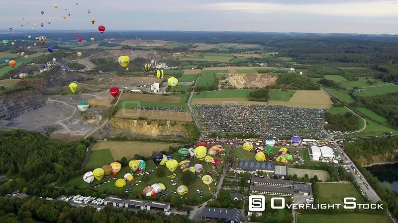 Balloon festival Warsteiner Internationale Montgolfiade in the airspace in Warstein in the state of North Rhine-Westphalia, Germany