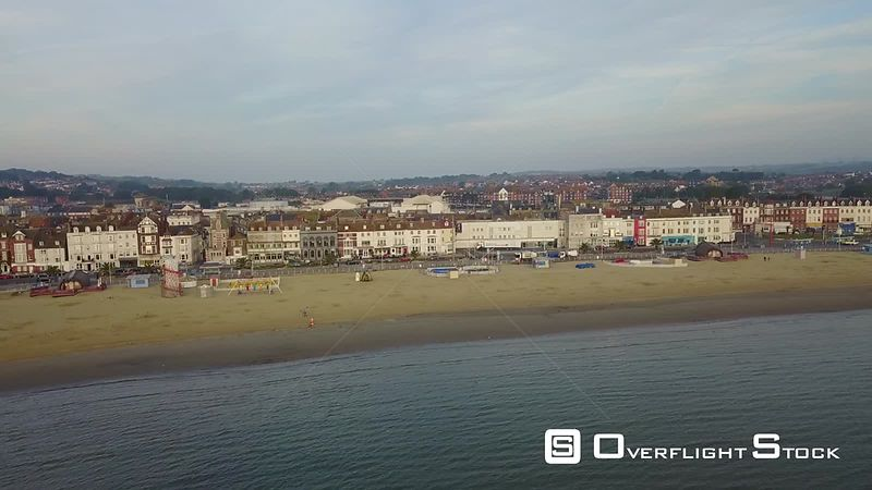 Tourist Town of Weymouth Dorset Drone Video Southern England