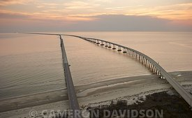 Aerial photograph of the Chesapeake Bay Bridge Tunnel