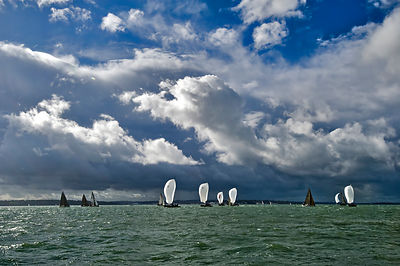 Racing yachts in the Solent