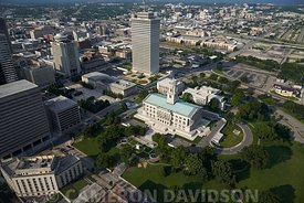Aerial photograph of the Capitol Building in Nashville, Tennessee
