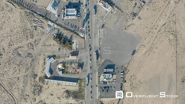 Top Down Drone Video of Baker California