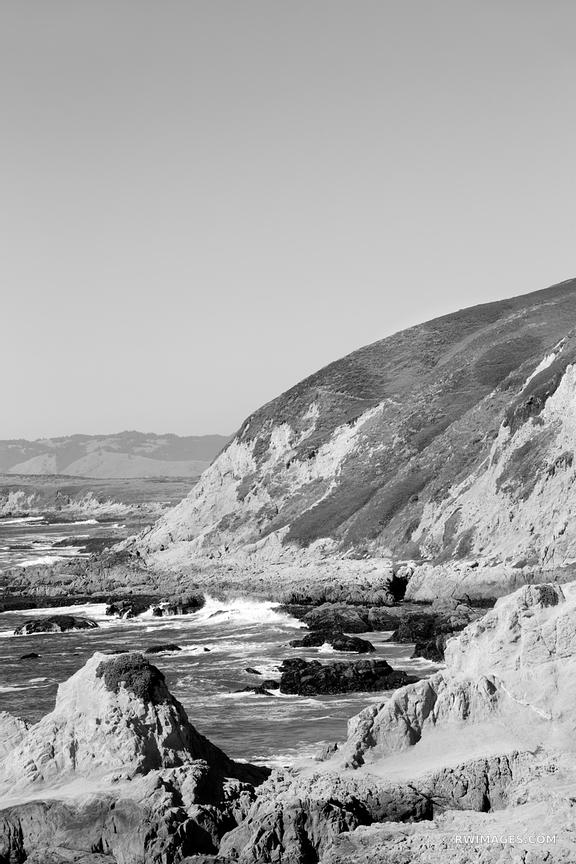 BODEGA BAY BODEGA HEAD SONOMA COAST STATE PARK CALIFORNIA BLACK AND WHITE
