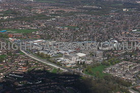 Manchester aerial photographs of Wythenshaw town centre