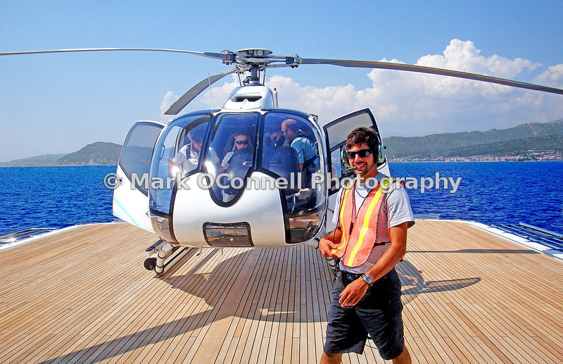 Helicopter on Princess Mariana