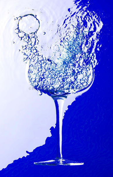 Abstract Champagne Glass