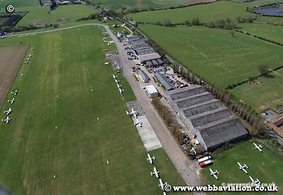 aerial photograph of  Stapelford Aerodrome Essex   England UK.