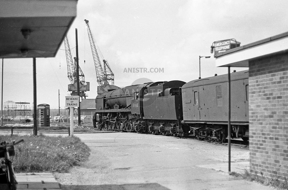 Steam loco WC 34008 Southampton New Docks