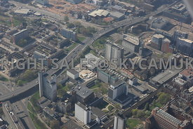 Manchester aerial photograph of The University of Manchester and the Mancunian Way