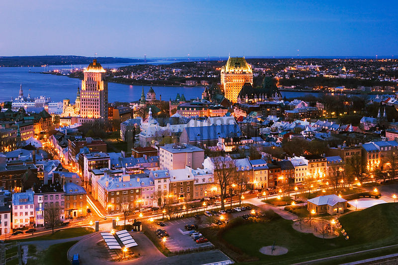 Quebec City aerial view, Quebec, Canada