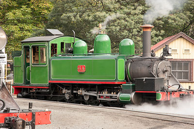 steam engine 6A from the Puffing Billy railways