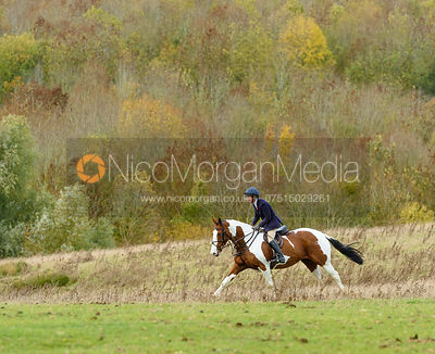 Clare Bell at Stone Lodge. The Cottesmore Hunt at Tilton