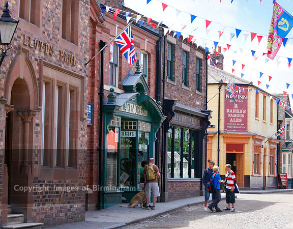 Blists Hill Museum, part of the Ironbridge Gorge Museums.  Telford, Shropshire.