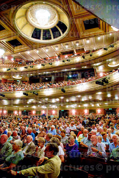 Audience Seated in a Beautiful Traditional Theatre Auditorium