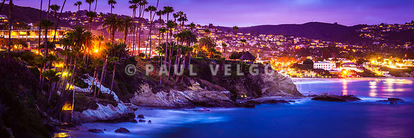Laguna Beach at Night Panorama Picture
