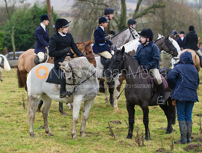 Followers at the meet - The Cottesmore Hunt at Belton-in-Rutland 21/12