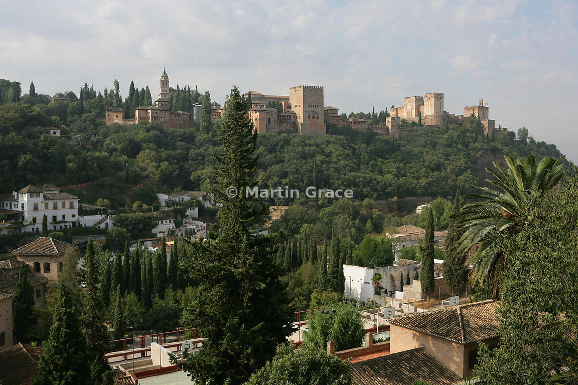 The Alhambra from Sacromonte (the gypsy quarter), Granada, Andalusia, Spain