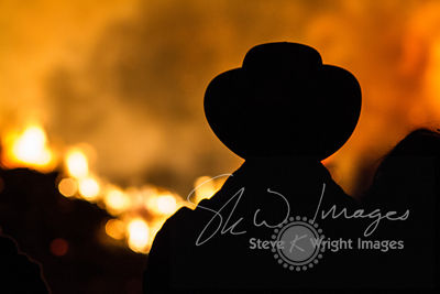 The Mysterious Man in the Hat, Bonfire Night 2014 - Cookham, Berkshire, United Kingdom