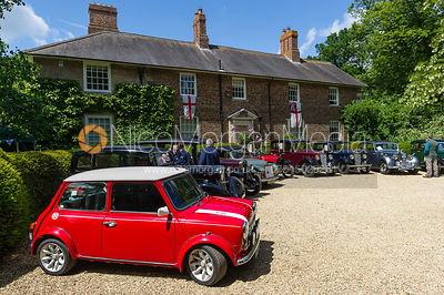 Classic cars at Ashwell Grange. The Ashwell Village Fete, 21 June 2015