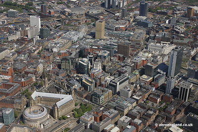 Manchester City Centre from the air