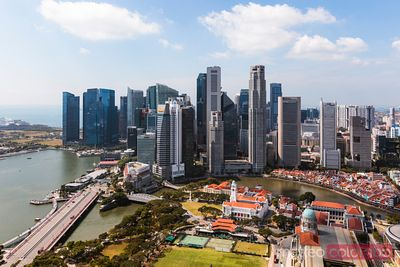 Financial district at daytime, Singapore