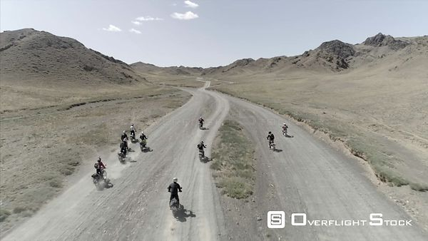 Group Motorcycle trip in South Gobi Drone Video Mongolia