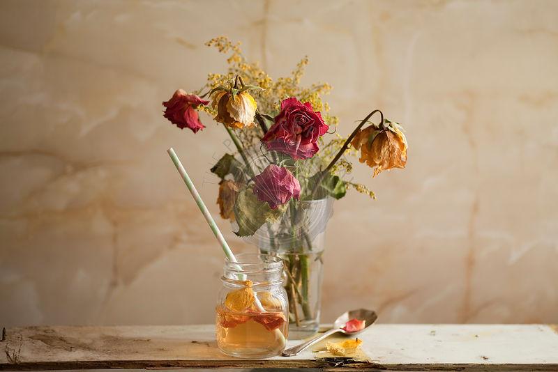 A light drink of refreshing Rose Petal Tea.