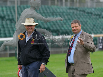 Our wonderful press officers, Richard and Peter Morris - dressage phase,  Land Rover Burghley Horse Trials, 4th September 2014.
