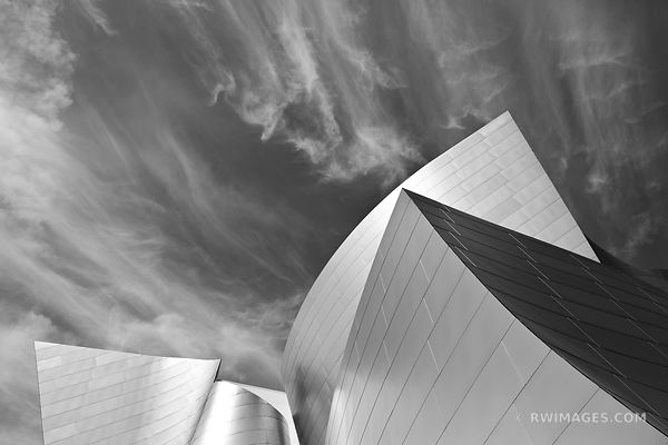 WALT DISNEY CONCERT HALL LOS ANGELES BLACK AND WHITE