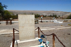 Headstone of Herbert Edward Hyde Harrison in the British Cemetery at Tiliviche, Region I, Chile