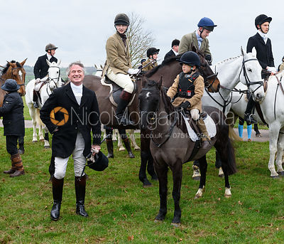 Nick Wright At the meet. The Cottesmore Hunt at Bleak House 18/12